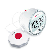 Blitzlichtwecker für Hörgeschädigte incl. Vibrakissen   Bellman BE1370 Clock pro
