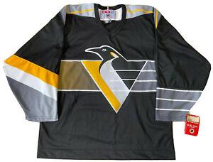 CCM L Pittsburgh Penguins Robopen Hockey Jersey Vintage