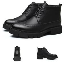 Men's Brogue Wing Tip Carved Business High Top Faux Leather Ankle Boots Shoes L