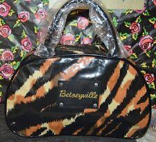 Betsey Johnson Betseyville Large 2 Handle Cosmetic Overnight Bag Animal Print