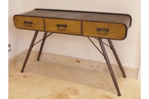 Vintage Industrial Console Desk urban vintage console desk Urban Chic