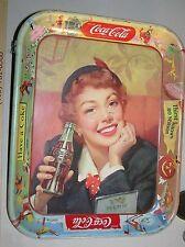 """vintage coca cola tray """"Thirst Knows No Season"""" circa 1950's"""