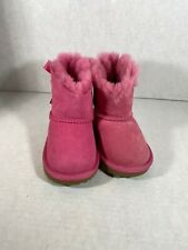 Ugg T Mini Bailey Bow II Girls Boots Size 6 Us Pink 101397T. (dm12)