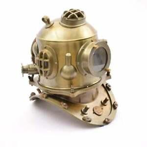 Antique Android Diving Helmet ~ Marine Divers Scuba Boston La-Spezia Navy Helmet