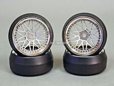 RC 1/10 DRIFT WHEELS Package 0 Degree 6MM Offset 3 PIECE SILVER W/ CHROME Lip