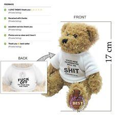 Funny rude leaving teddy bear