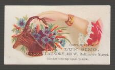 [69051] 1880-1890's TRADE CARD from LUN SING, CHINESE LAUNDRY (BALTIMORE, MD)