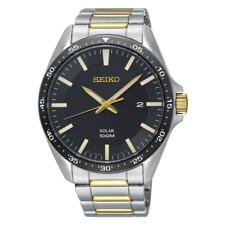 全新現貨SEIKO精工 Men's Solar 太陽能 黑色錶盤Bracelet 手錶 SNE485P1 HK*1