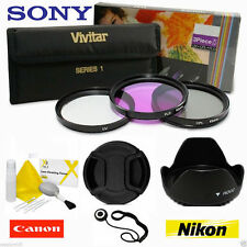 58MM UV CPL FLD Filter Kit PLUS ACCESSORIES FOR CANON REBEL EOS T6 T6I T6S T3