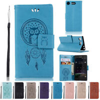 For Sony Xperia XZ1 Compact Flip Leather Case Stand Magnetic Wallet Cover