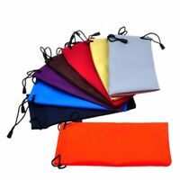 5 x sunglasses pouch soft eyeglasses bag glasses case cleaning clothes