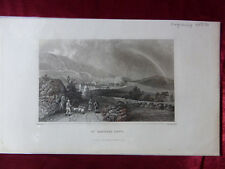 More details for antique engraving view of st boniface down, isle of wight c1830 veduta art print