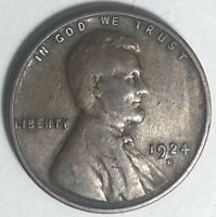 1924 D Lincoln Wheat Cent F Condition Awesome Key Date Coin!