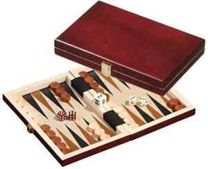 Saloniki Mini Backgammon - Tradicional Juego de Mesa Estrategia - Set Viaje