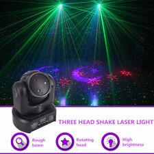 Mini 3 Heads RGB Gobos Shark Moving Laser Light DMX Home Party DJ Stage Lighting