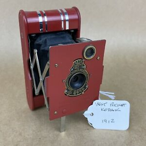 Eastman Vest Pocket Kodak 1912 Red Folding Camera