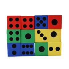 12Pcs Soft Eva Foam Baby Children Kids Play Dice Puzzle Game Block Toy
