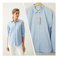 [ TRENERY ] Womens Cotton Spotted Shirt  NEW RRP$129 | Size XL or AU 16 or US 12