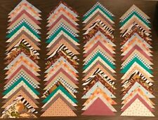 100 piece Mostly Vintage Quilt Blocks Fabric Triangles Quilting Crafts lot #507