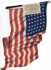 Large Wwi Die Cut Paper American Flag Window Decal
