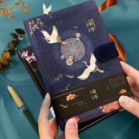 """Beautiful Cranes"" Hard Cover Journal Vintage Diary Notepad Notebook Gift"