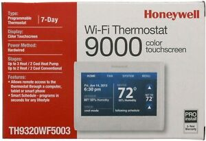 Honeywell TH9320WF5003 Wi-Fi Touch Screen Programmable Thermostat,1 Pack - White
