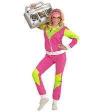 Womens Ladies Neon 80'S Shell Suit Retro 80s Shellsuit Fancy Dress Costume S