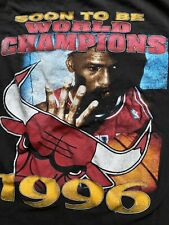 Vintage Chicago Bulls 1996 Bootleg Rap Tee Shirt Championship Double Sided L/Xl