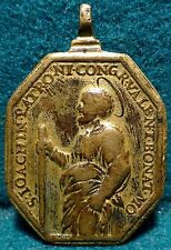 ST JOACHIM / OUR LADY OF SORROWS Antiq 17th Cent LGE 31x46mm BRASS MEDAL