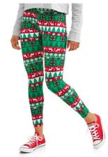 Women Size SMALL Christmas Tree Leggings Snowman Holiday SOFTBRUSH Footless NWT