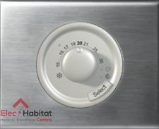 Thermostat ambiance céliane inox brossé 67400+68540+80251+69101