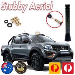 Antenna Stubby Bee Sting for Nissan Navara NP300 ST ST-X 2014>20 Black Carbon