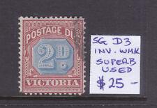 Victoria: 2d Postage Due Sg D3 Wmk V Ov Cr Inverted F.Used