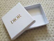 "NEW Christian DIOR white logo jewelry square Box 3.5"" x 3.5"" x 1"""