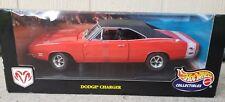 100% HOT WHEELS  1969 DODGE CHARGER R/T (orange/black) 1/18  --  NISB