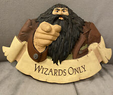 Harry Potter Wizards Only Hagrid Wall Sign Plaque Figurine Hallmark 2000
