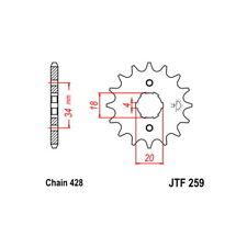 PIGNONE S AC P428-D16   04/05 KYMCO KXR 90 54.2020016