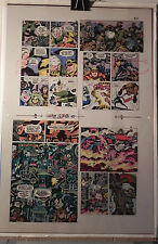 NEW GODS BOOK 6 FLAT 17 JACK KIRBY ORIGINAL 3M COLOR ART SIGNED A. TOLLIN w/COA