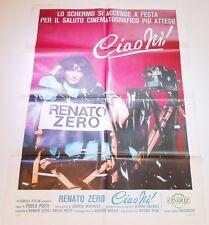MANIFESTO 2F ORIGINALE DEL  FILM CIAO NI' RENATO ZERO 1979