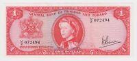 Trinidad & Tobago Banknote 1 Dollar $ 1964 P26c A UNC Sig V. E. Bruce QEII AU
