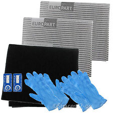 Cooker Hood Filter Kit for WHIRLPOOL Extractor Fan Vent Grease Carbon Filters