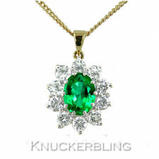 18Carat Yellow Gold Emerald Fine Necklaces & Pendants