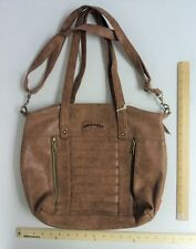 Women's Union Bay Tan Brown Purse Hand Bag LARGE Tote Cognac - FLASH SALE