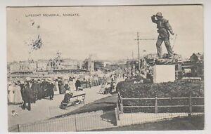 Kent Postkarte - Rettungsboot Gedenkstätte, Margate - P/U 1913 (A195)