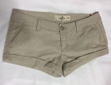 Beige Corduroy HOLLISTER Ladies Low Rise Shorts / Hotpants Size 5 (UK 8)