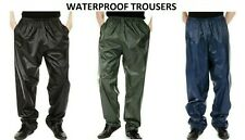 Mens XL waterproof over trousers rain suit fishing work windproof Navy Blue NEW
