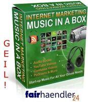 MUSIC IN A BOX V1 - Lizenzfrei 101 Musik Clips Ohne Lizenz Youtube Podcasts PLR