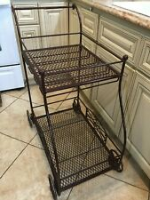 "Vintage Iron Serving Cart, 36"" Tall x 30"" Deep x 18"" Wide, Weight is 35 Lbs"