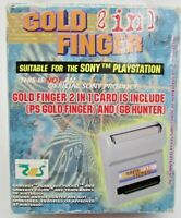 Gold Finger 2 In 1 Playstation 1 PS RARE Gold Finger Hunter Adapter Working