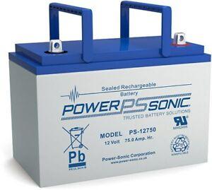 Powersonic PS-12750-U 75AH 12V Rechargeable Sealed Lead Acid (SLA) Battery
